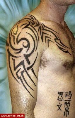tribal celtic maori oberarm brust. Black Bedroom Furniture Sets. Home Design Ideas